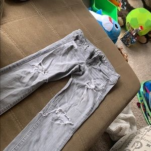 smokey gray size 2 American eagle stretch jeans